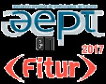 Logotipo de AEPT sobre logotipo de Fitur 17