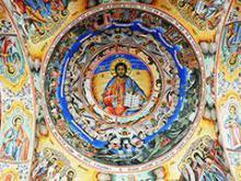 plafón en el monasterio de Rila