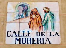 """Cartel municipal """"Calle de la Morería"""""""