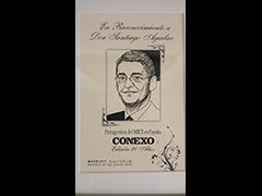 placa correspondiente a Santiago Aguilar