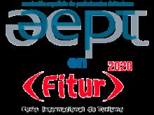 composición de logotipos de AEPT y Fitur