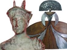 Composición con las efigies de los dos premios