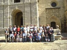 El grupo durante la visita
